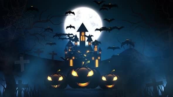 Halloween Animation Background 4K-H006