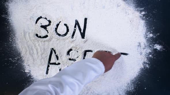 Cover Image for Bon Apetit Flour Writing