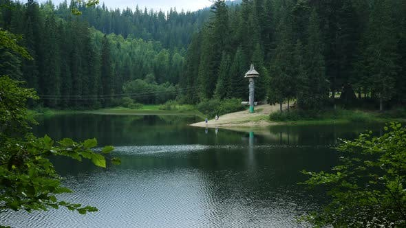 Lake Synevyr At The Ukrainian Carpathians
