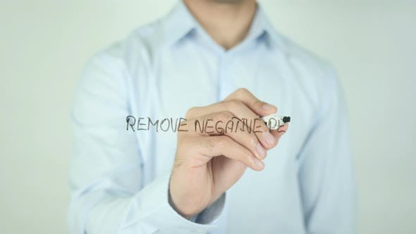 Thumbnail for Remove Negative People, Writing On Screen