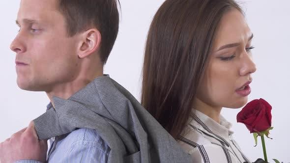 Thumbnail for Portrait of Man and Woman Having a Quarrel