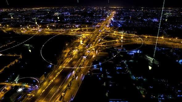 Thumbnail for Futuristic Digital Data Connection City 02
