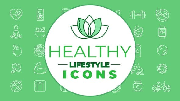 Healthy Lifestyle Icons Pack
