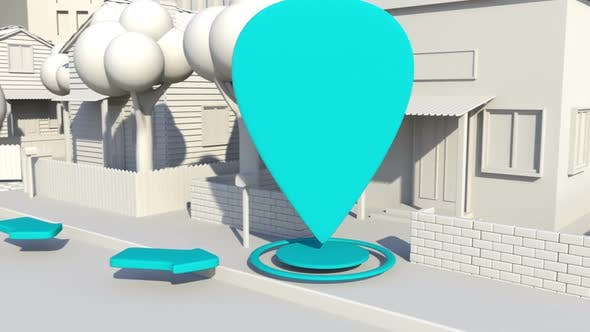 Thumbnail for 3D Path Indicators In A City District