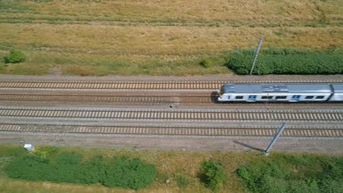 High Level View of a Commuter Train