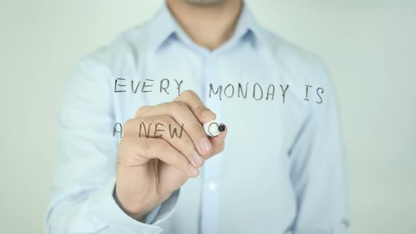Cover Image for Every Monday Is a New Chance, Writing On Screen