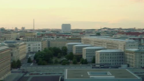 View of Berlin at sunset, Berlin, Germany