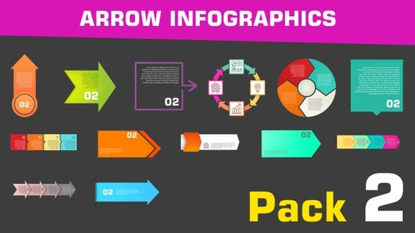 Thumbnail for Arrow Infographics Pack 2