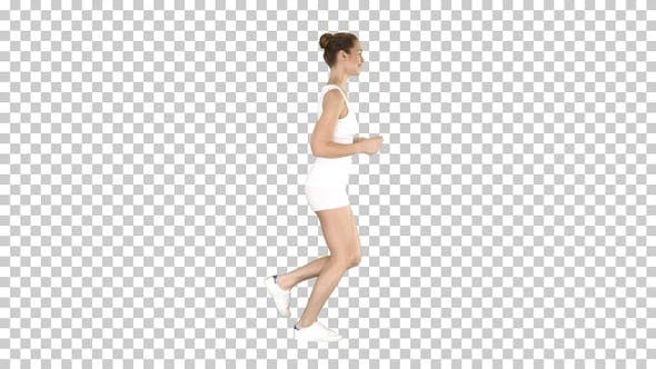 Thumbnail for Athletic woman running, Alpha Channel