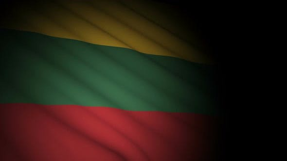 Thumbnail for Lithuania Bissau Flag Blowing in Wind