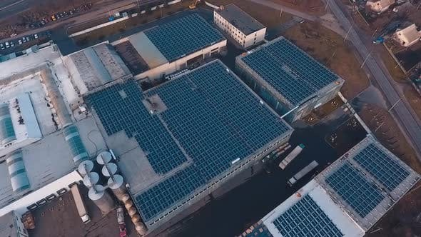 Aerial view of solar energy. New energy solar photovoltaic panels outdoors