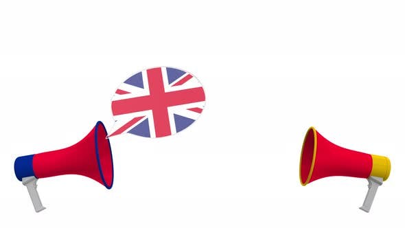 Thumbnail for Flags of Egypt and the United Kingdom on Speech Bubbles