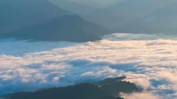 Thumbnail for Mountain Landscape With Fog Moving