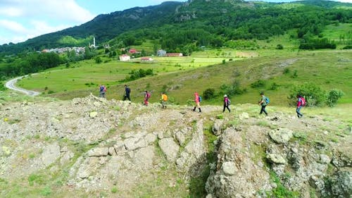 Mountainers Climbing