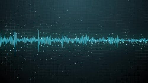 Futuristic Visualization of the Sound Waveform