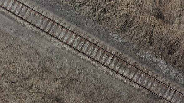 Thumbnail for Railroad track in the wild 4K aerial footage