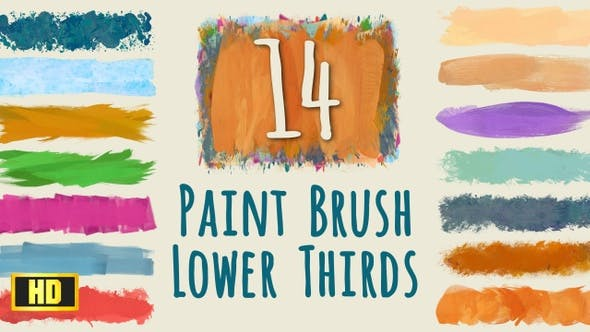 Thumbnail for Paint Brush Strokes Lower Thirds - HD pack