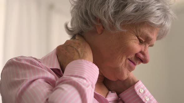 Thumbnail for Old woman with neck pain