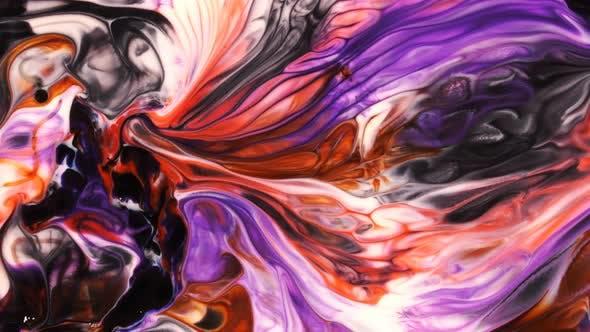 Thumbnail for Abstrakte Kunst Tinte Paint Spread Explode Hintergrund