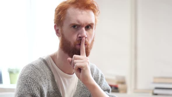 Thumbnail for Silent, Silence Gesture by Man with Red Hairs