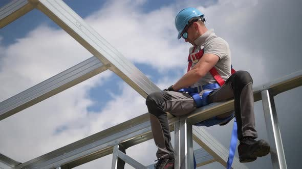 Worker and Safety Harness Equipment