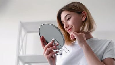 Morning Routine Facial Skin Care Girl Fresh Face