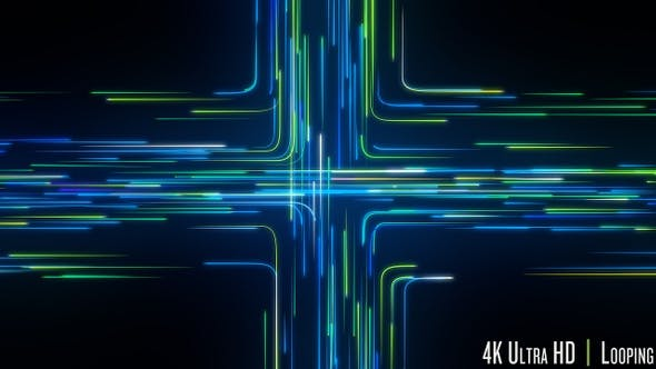 Thumbnail for 4K Intersection of Streaming Digital Data Loop