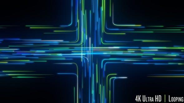 Thumbnail for 4K-Schnittpunkt der digitalen Streaming-Datenschleife