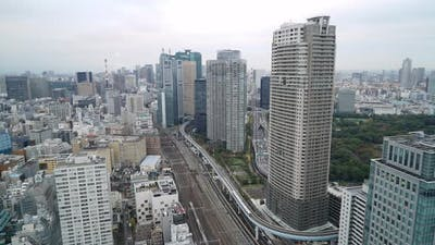 Beautiful architecture building in Tokyo city Japan
