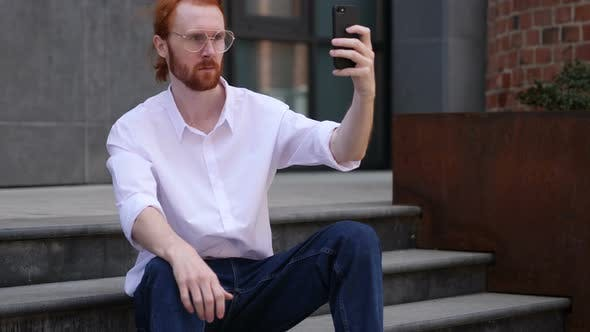 Thumbnail for Portrait of Designer Taking Selfie on Phone