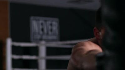 Handsome Fit Man Boxing