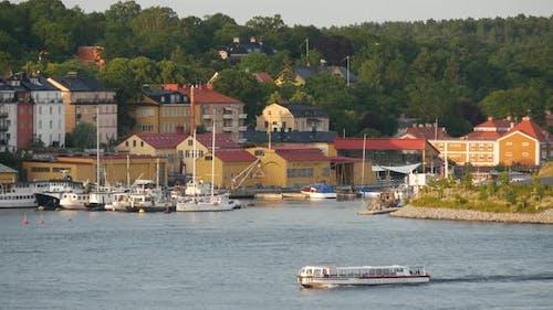 Djurgarden and Beckholmen wharf in Stockholm Sweden