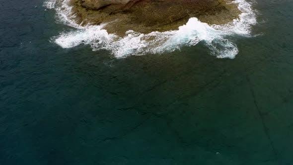 Thumbnail for Atlantic Ocean Shore Cliffs of Playa de Los Morteros, Tenerife, Spain