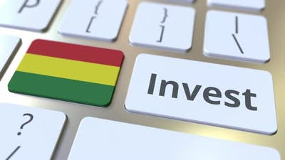 INVEST Text and Flag of Bolivia on the Keys