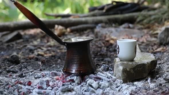 Turkish Coffee on Coals