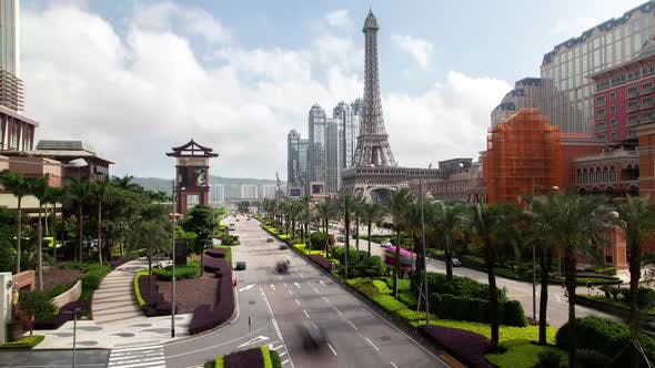 Thumbnail for Highway of Macau Istmo New Urban Zone in China Timelapse