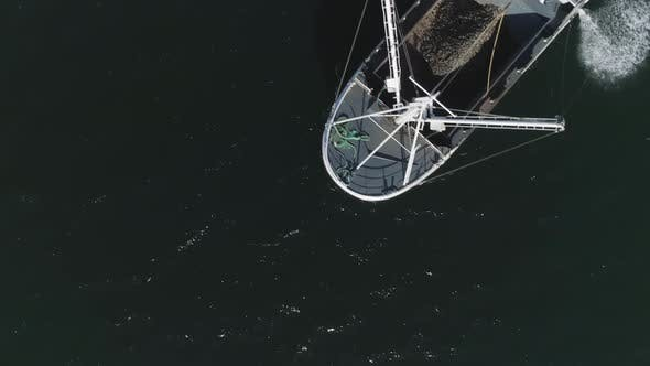 Thumbnail for Flying Above Water and then Cathing a Sight of a Fishing Boat