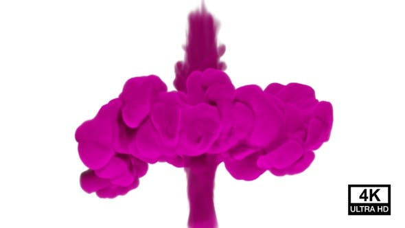 Pink Smoke Collisions 4K