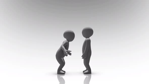 Two People Arguing And Shouting With Each Other Concept Hd