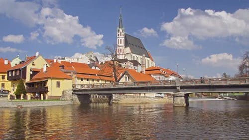 Krumlov Town In Czech Republic