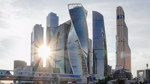 Timelapse of Moscow City Business Center