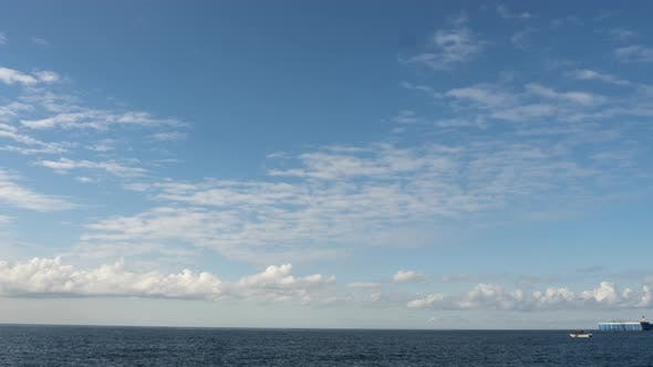 Clouds Float Fast Overhead Time Lapse