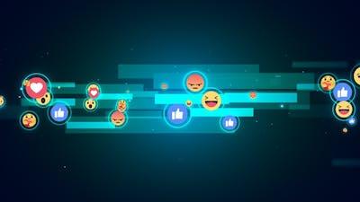 Facebook Reaction Emoji Background V9