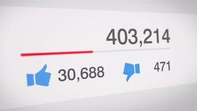 Social Media Statistics Counter Bar
