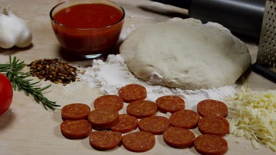 Thumbnail for Ingredients To Prepare A Home Made Pizza 23b