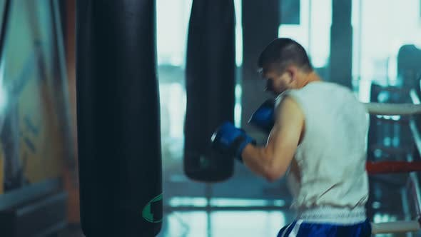 Thumbnail for Active Man Practicing His Punches Gym