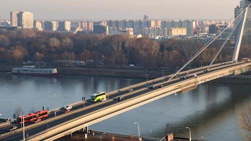 Hyperlapse SNP Bridge in Bratislava