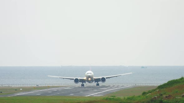 Widebody Aircraft Landing