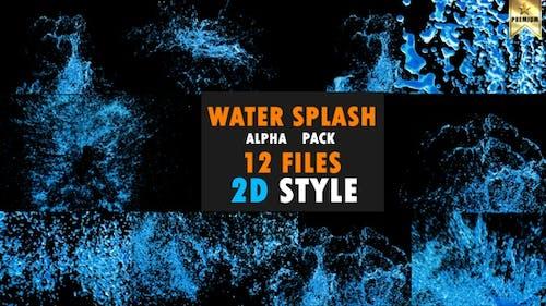 Éclaboussures d'eau 2D