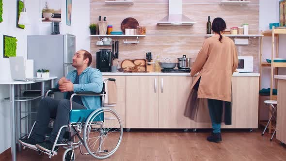 Thumbnail for Happy Disabled Man in Wheelchair